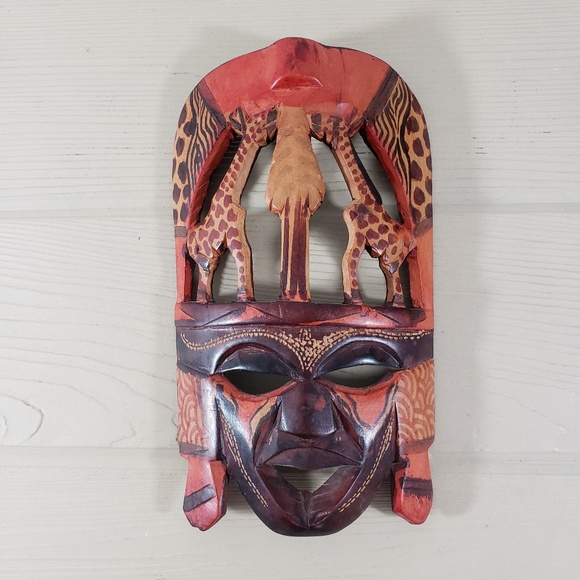 African Wooden Carved Mask
